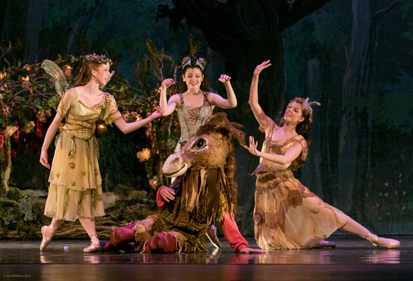 Kelsey (far left) in A Midsummer Night's Dream, May 2011